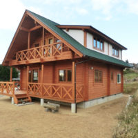 山の上のマシンカットログハウス(小田郡)