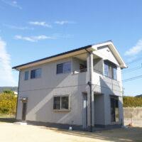 グレー×切妻屋根の家(笠岡市)