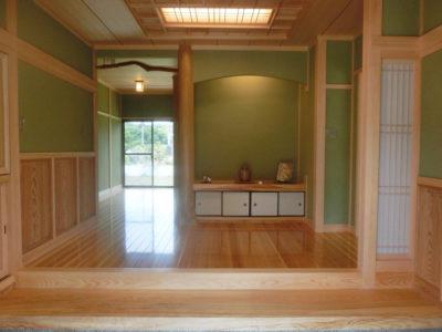 焼板の平屋和風住宅(笠岡市)