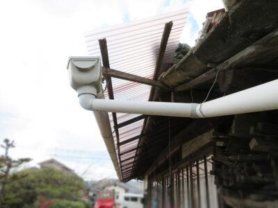 ポリカ屋根の張替(笠岡市)